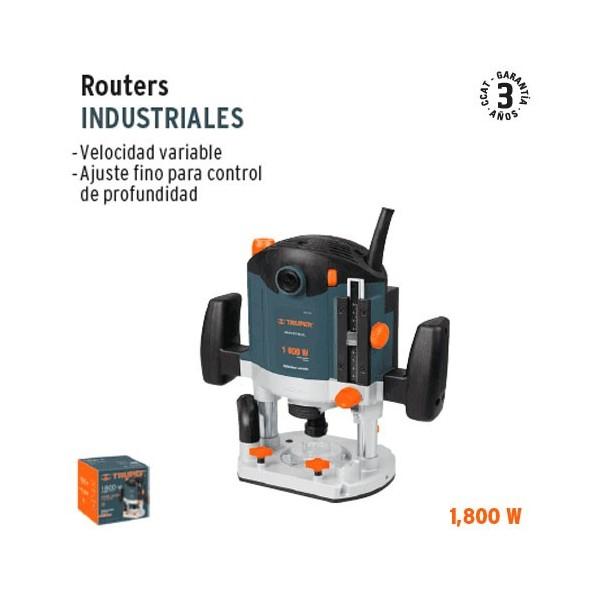 Rebajadora Router Industrial 1200 W TRUPER