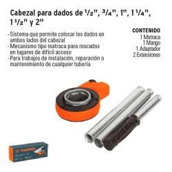 Cabezal para Dados de ½'', ¾''. 1 ¼'', 1 ½'' y 2'' TRUPER