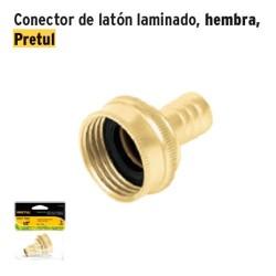 Conector de Laton Laminado Hembra PRETUL