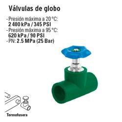 Valvula de Globo PP-R TERMOFLOW