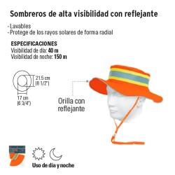 Sombrero de Alta Visibilidad con Reflejante TRUPER