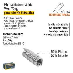 Mini Soldadura 50/50 para Tubería Hidráulica 70g TRUPER