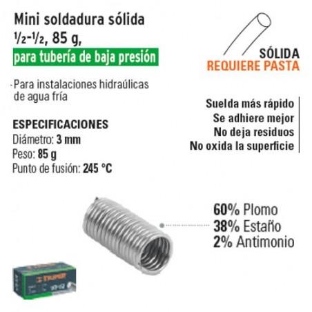 Mini Soldadura ½-½ para Tubería de Baja Presión 85g TRUPER