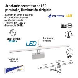Arbotante Decorativo de LED para Baño Iluminación Dirigible FOSET