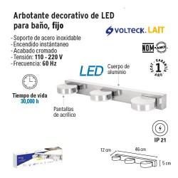 Arbotante Decorativo de LED para Baño Fijo FOSET