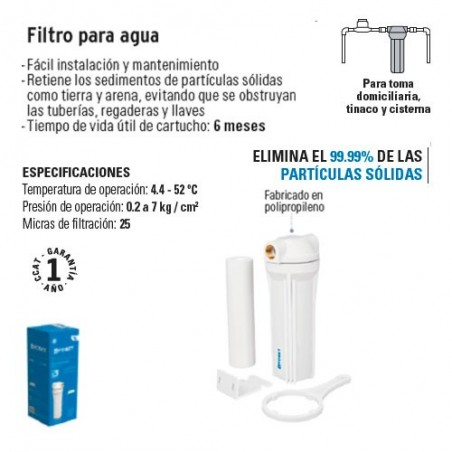 Filtro para Agua FOSET