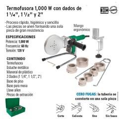Termofusora 1000 W con Dados de 1¼'' 1½'' y 2'' FOSET
