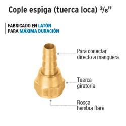 Cople Espiga Tuerca Loca 3/8'' FOSET