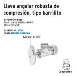 Llave Angular Robusta de Compresión Tipo Martillo FOSET