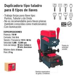 Duplicadora Tipo Taladro para 8 Tipos de Llaves HERMEX