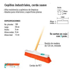 Cepillo Industrial Cerda Suave KLINTEK