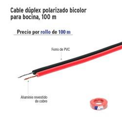 Cable Dúplex Polarizado Bicolor para Bocina100 m VOLTECK