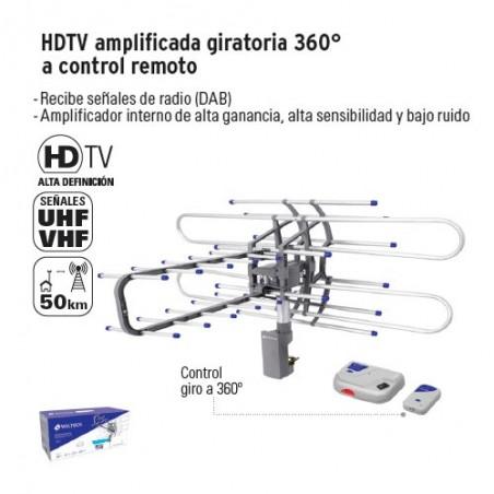 HDTV Amplificada Giratoria 360° a Control Remoto VOLTECK