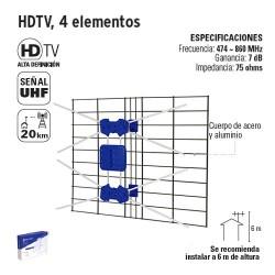 HDTV 4 Elementos VOLTECK