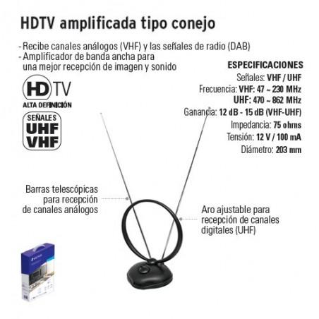 HDTV Amplificada Tipo Conejo VOLTECK