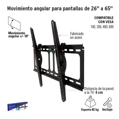 """Movimiento Angular para Pantallas de 26"""" a 65"""" VOLTECK"""