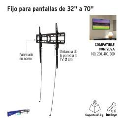 """Fijo para Pantallas de32"""" a 70"""" VOLTECK"""