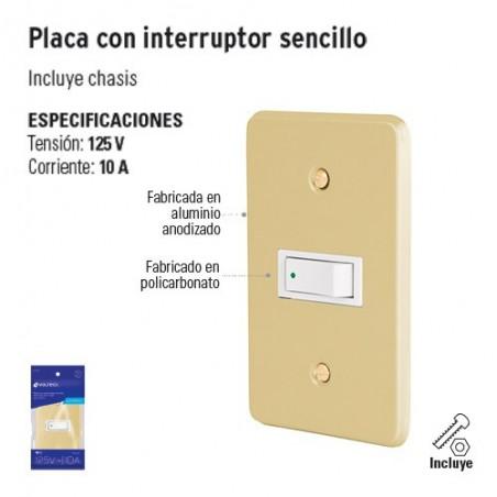 Placa con Interruptor Sencillo VOLTECK