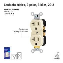 Contacto Dúplex 2 Polos 3 Hilos 20 A VOLTECK