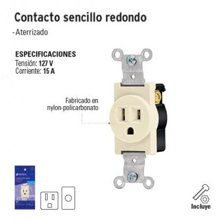 Contacto Sencillo Redondo VOLTECK