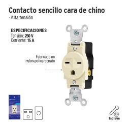 Contacto Sencillo Cara de Chino VOLTECK