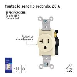 Contacto Sencillo Redondo 20 A VOLTECK