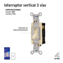 Interruptor Vertical 3 Vías VOLTECK
