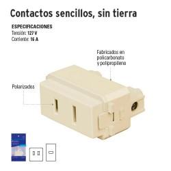 Contactos Sencillos sin Tierra VOLTECK