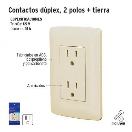 Contacto Dúplex 2 Polos + Tierra VOLTECK