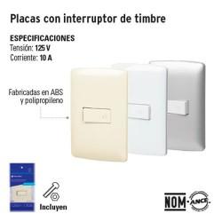 Placa con Interruptor de Timbre VOLTECK