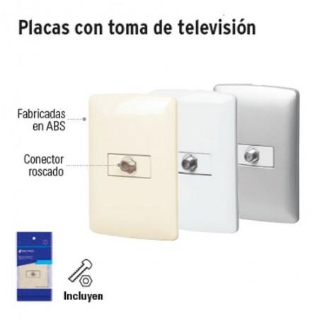 Placas con Toma de Television VOLTECK