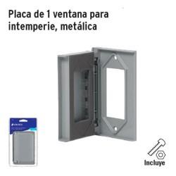 Placa de 1 Ventana para Intemperie Metalica VOLTECK