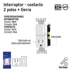 Interruptor Contacto 2 Polos + Tierra VOLTECK