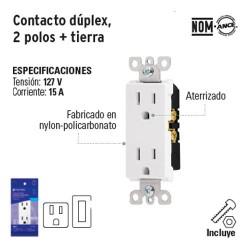 Contacto Duplex Falla a Tierra GHCI VOLTECK