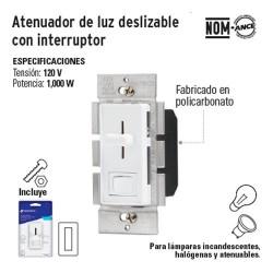 Atenuador de Luz Deslizable con Interruptor VOLTECK