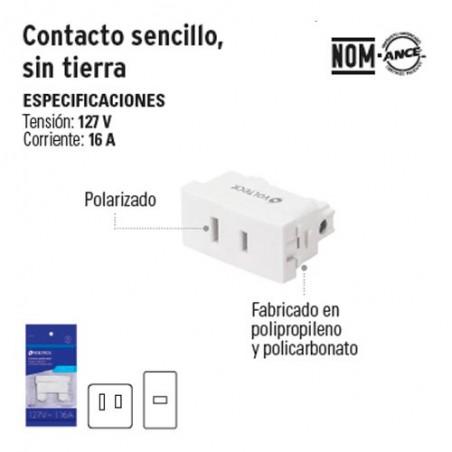 Contacto Sencillo sin Tierra VOLTECK