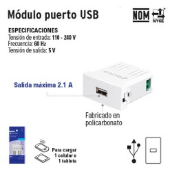 Modulo Puerto USB VOLTECK
