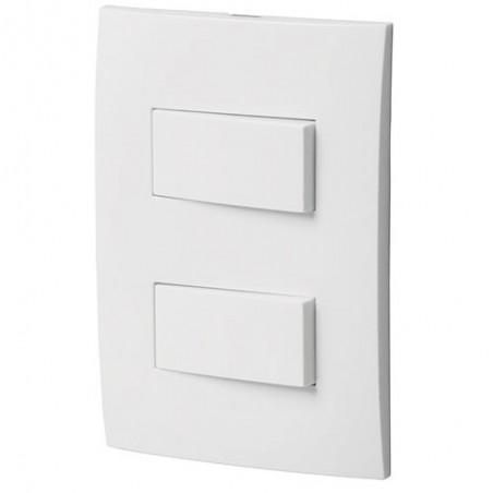 Placa con 1 Interruptor Sencillo +1 de 3 Vias VOLTECK