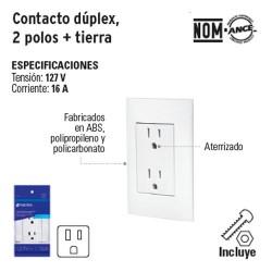 Contacto Duplex 2 Polos + Tierra VOLTECK