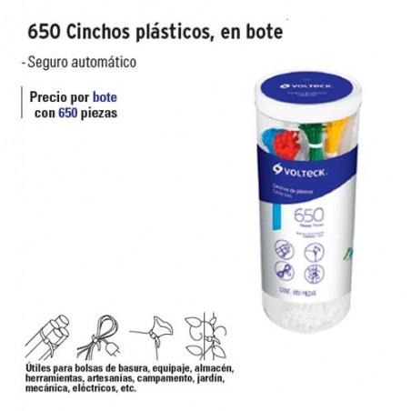 650 Cinchos Plasticos en Bote VOLTECK