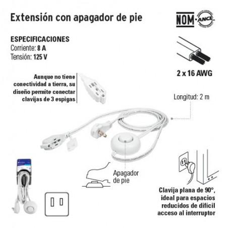 Extension con Apagador de Pie VOLTECK