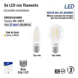 Lampara de LED con Filamento VOLTECK