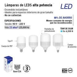 Lampara de LEDS Alta Potencia VOLTECK