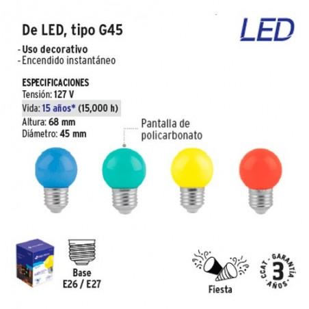 Lampara de LED Tipo G45 VOLTECK