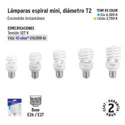 Lampara Espiral Mini Diametro T2 VOLTECK