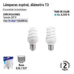Lampara Espiral Diametro T3 VOLTECK