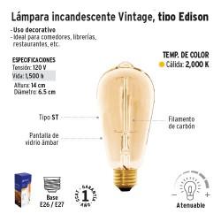 Lampara Incandescente Vintage Tipo Edison VOLTECK