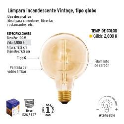 Lampara Incandescente Vintage Tipo Globo VOLTECK