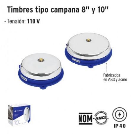 Timbre Tipo Campana 8'' y 10'' VOLTECK