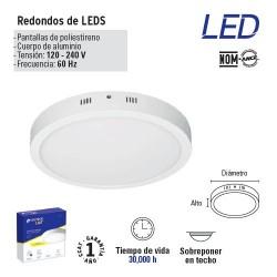 Luminario Redondo de LED Tipo Plafon Plano VOLTECK
